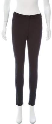 Veronica Beard Grosgrain-Accented Mid-Rise Leggings