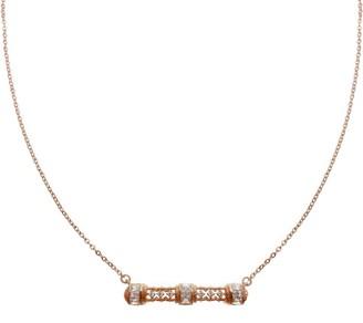 Judith Ripka 14K Rose Gold Clad Estate Design Bar Necklace