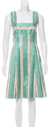 Barbara Tfank Striped Knee-Length Dress
