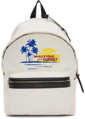 Saint Laurent White Sunset Backpack