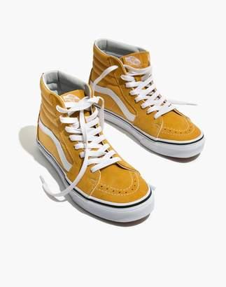 Madewell Vans Unisex SK8-Hi High-Top Sneakers in Ochre Suede