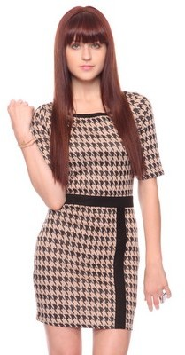 Retro Houndstooth Dress