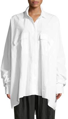Urban Zen Oversized Button-Down Poplin Shirt