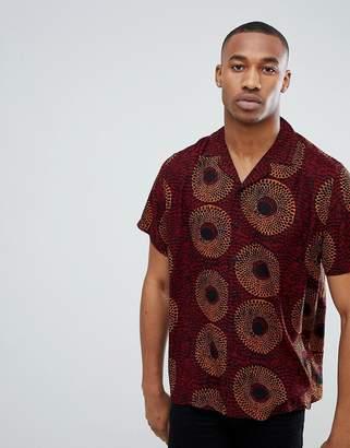 Asos Design DESIGN oversized patterned shirt