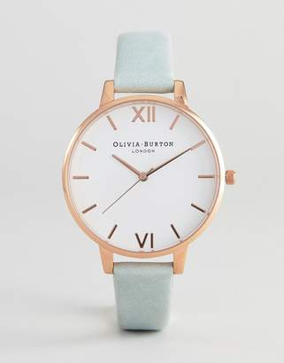 Olivia Burton OB16BDW36 White Dial Leather Watch In Sage