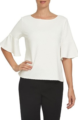 Women's Cece Herringbone Knit Top $59 thestylecure.com