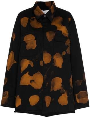 Marques Almeida Marques'almeida bleach effect buttoned cotton shirt