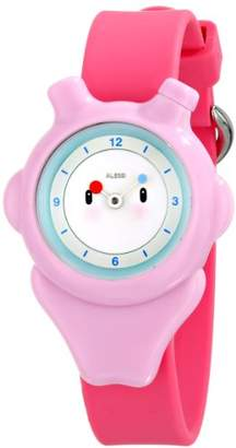 """Alessi Kids' AL23003 """"Space-Bimba"""" Automatic Watch with Pink Plastic Band"""