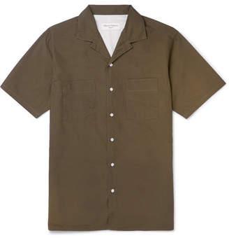 Officine Generale Don Camp-Collar Cotton-Poplin Shirt