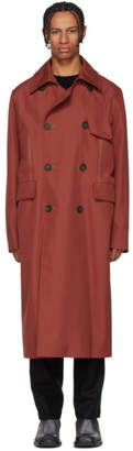 Acne Studios Red Oversized Trench Coat