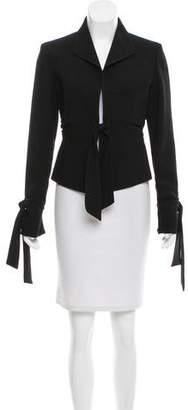 Valentino Tie-Accented Wool Blazer