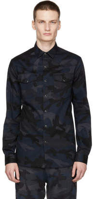 Valentino Navy Camo Shirt