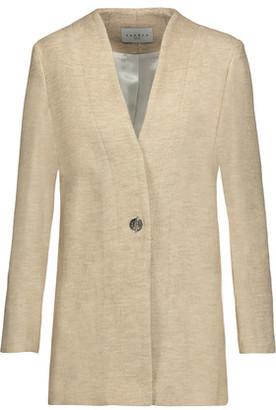 Sandro Margit Cotton And Linen-Blend Blazer $625 thestylecure.com