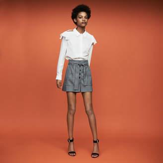 Maje Ruffled silk blouse
