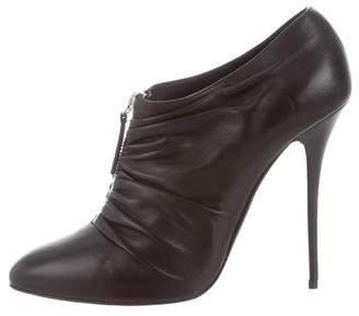 Giuseppe Zanotti Pleated Leather Booties