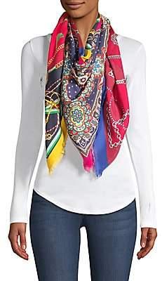 Franco Ferrari Women's Printed Silk Twill Scarf