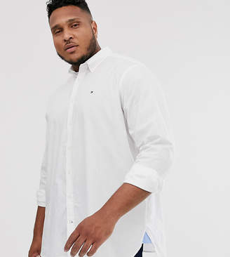 Tommy Hilfiger Big & Tall classic logo plain shirt in white