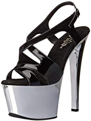 Pleaser USA SKY330/B/SCH Women's Platform Dress Sandal
