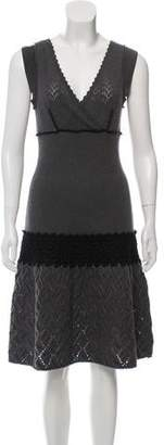 Philosophy di Alberta Ferretti Sleeveless Wool Dress