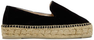 Manebi Black Monaco Velvet Double Sole Espadrilles