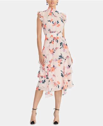 Rachel Roy Nikita Floral-Print Smocked Dress