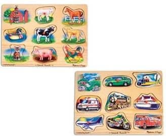 Toddler Melissa & Doug Farm & Vehicle Sound Puzzles $25.99 thestylecure.com