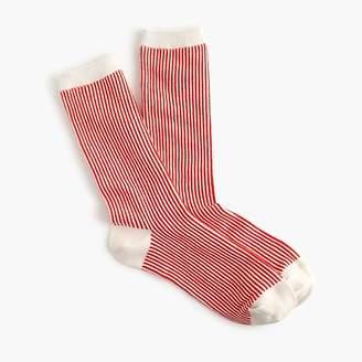 J.Crew Vertical stripe trouser socks