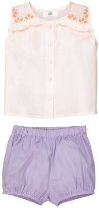 La Redoute COLLECTIONS Baby's Vest Top and Shorts Outfit, 1 Month-3 Years