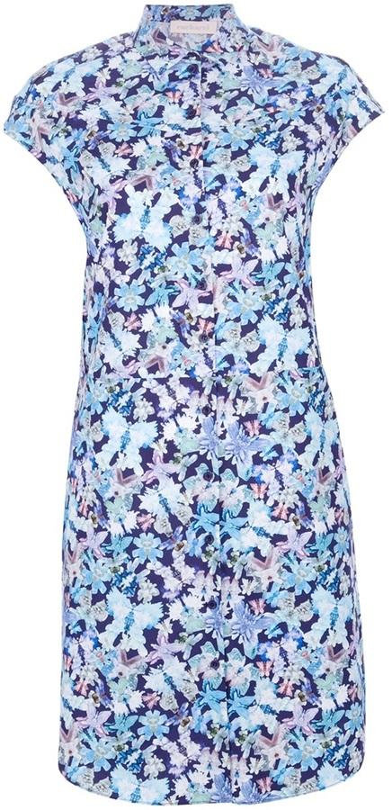 Cacharel butterfly print shirt dress