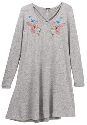 Poof Embroidered Bird Dress (Big Girls)