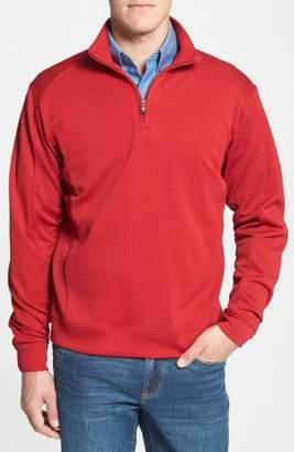 Cutter & Buck 'DryTec(R) Edge' Half Zip Mesh Pullover