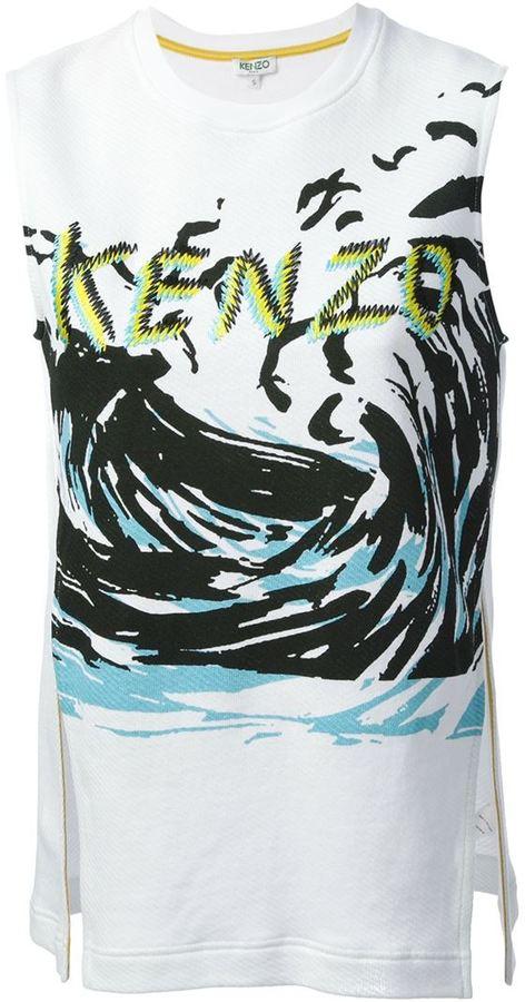Kenzo sleeveless 'Wave' sweatshirt