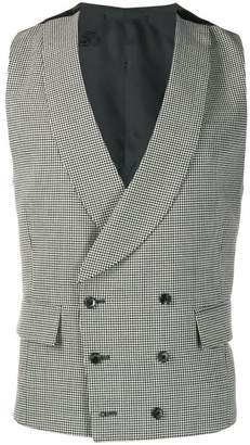 Gabriele Pasini houndstooth double-breasted waistcoat