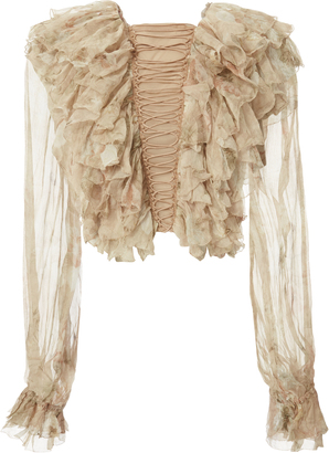 Zimmermann Bowerbird Teased Frill Blouse $1,150 thestylecure.com