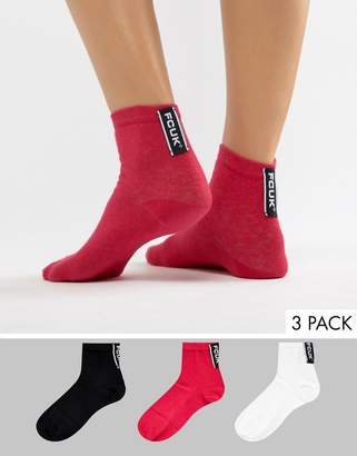 French Connection Sock 3 Pack