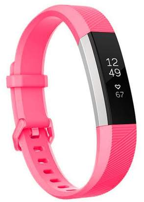 Fitbit Moretek For Alta Band and Alta HR Band Strap Adjustable Replacement with Secure Metal Clasp Buckle for Alta HR and Alta Smart Fintness Tracker(Pink,Large)