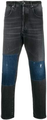 Golden Goose straight-leg panelled jeans