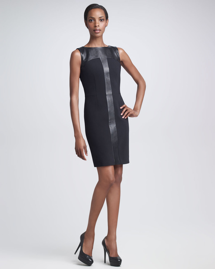 Yves Saint Laurent Leather-Inset Dress