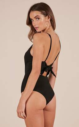 Showpo Shes A Flirt bodysuit in black - 20 (XXXXL) Basic Tops
