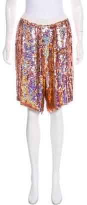Stella McCartney Sequined Knee-Length Shorts