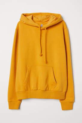 H&M Hooded Sweatshirt - Yellow