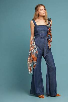 Pilcro And The Letterpress Pilcro Waist-Tied Denim Jumpsuit