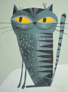 Matte Stephens Krasner Kitty - Print