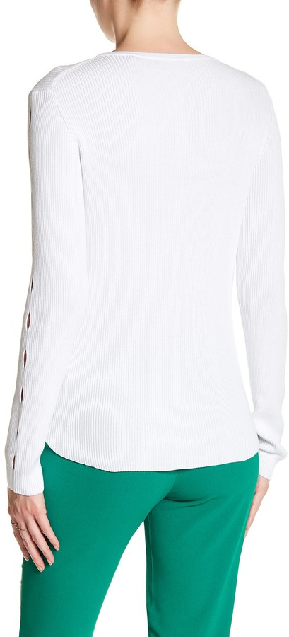 Cullen Rib Crew Cutout Sleeve Sweater 2