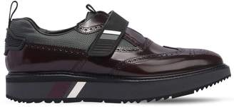 Prada Opposite Brogue Leather Monk Strap Shoes