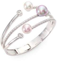 Majorica 10MM-12MM Multicolor Round Pearl Bangle Bracelet