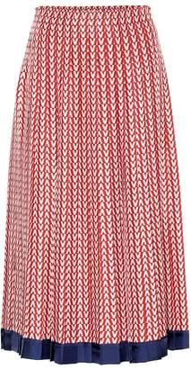 460052457e Valentino Printed silk midi skirt