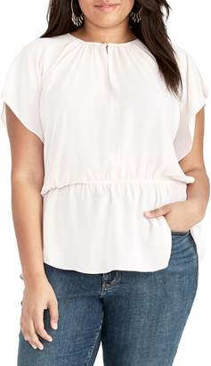 Rachel Roy Plus Gisele Flutter-Sleeve Top