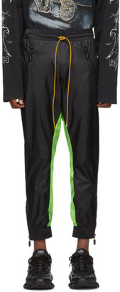 Rhude Black and Green Flight Suit Track Pants