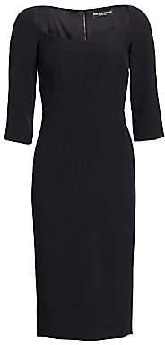 Dolce & Gabbana Dolce& Gabbana Dolce& Gabbana Women's Three-Quarter Sleeve Sheath Dress